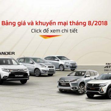 Bảng giá xe Mitsubishi tháng 08/2018